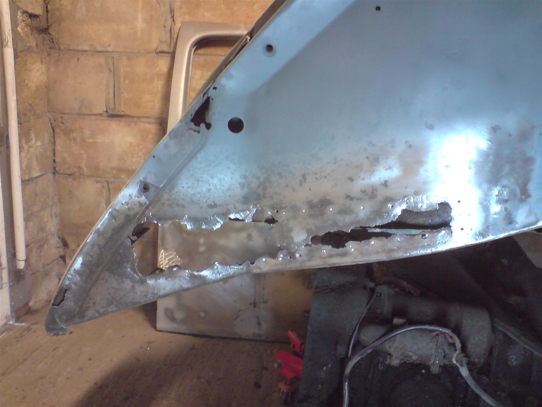 Bug -67 Rear Bumper Mount Repair Classic VW Beetle Panel Left
